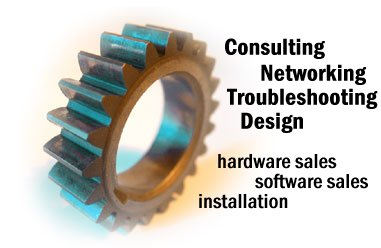 Consulting, Networking, Troubleshooting, Design, Hardware Sales, Software Sales, Installation