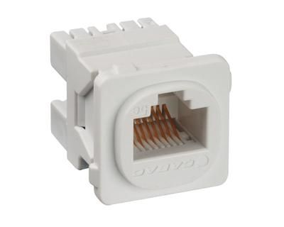 RJ45 JACK Cat5e  K/110 FITS CLIPSAL Wallplate - White - Pack 50 - JE/50